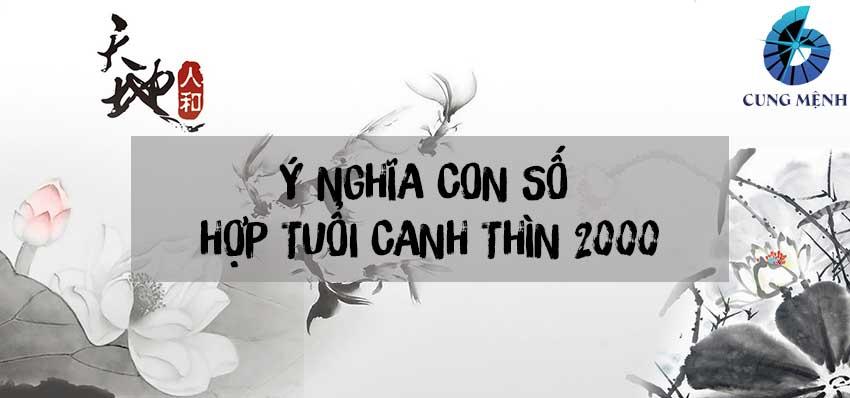 Ý nghĩa con số hợp tuổi Canh Thìn 2000